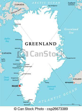 Capital Groenlandia Mapa