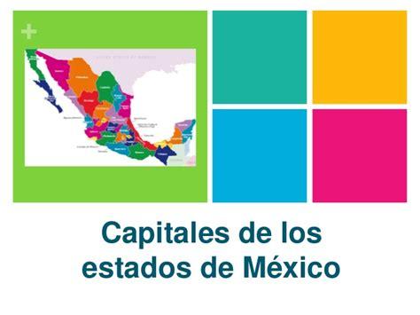 Capitales de mexico