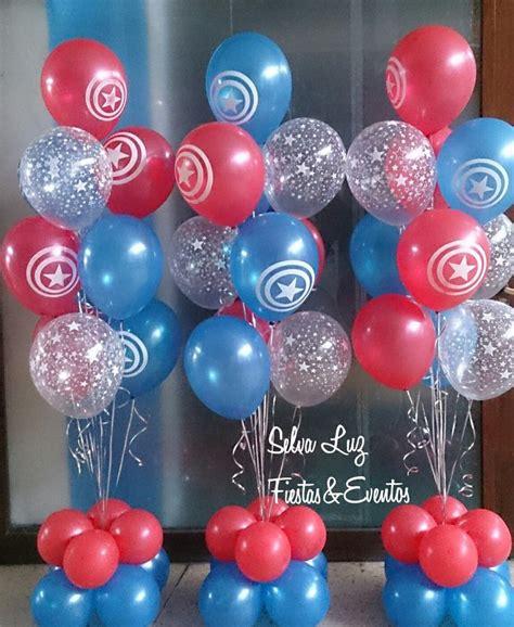 Capitan America, bouquet de globos inflados con gas helio ...