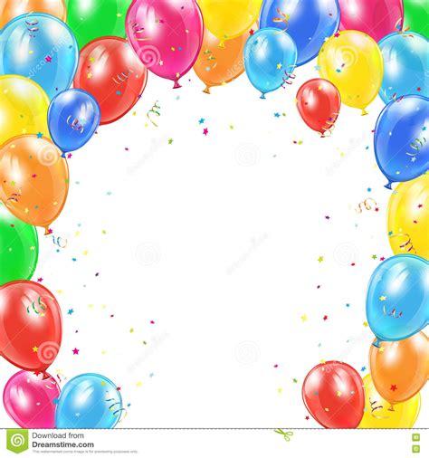 Capítulo De Los Globos Del Cumpleaños En El Fondo Blanco ...