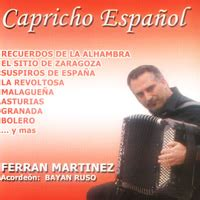Capricho Espanol accordion CD of Ferran Martinez