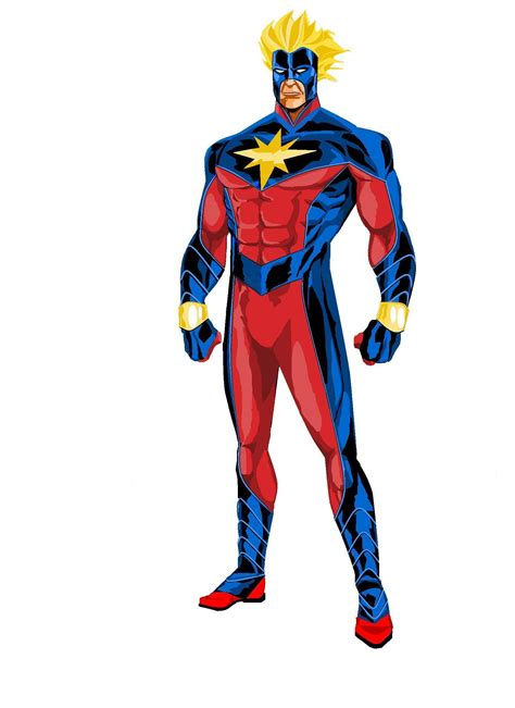 Captain Marvel art for hypothetical film (first part ...