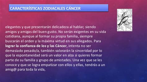 Caracteristicas zodiacales de Cancer