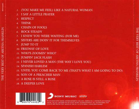 Carátula Trasera de Aretha Franklin   The Very Best Of ...