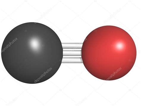 Carbon monoxide  CO  toxic gas molecule, chemical ...
