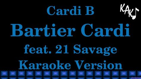 Cardi B   Bartier Cardi Feat 21 Savage Lyrics | IDMUSIC.ASIA