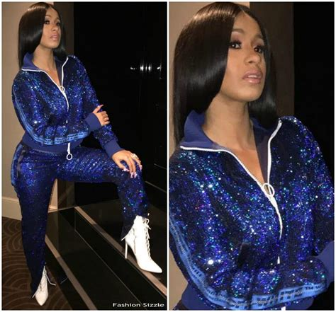 Cardi B In Off-White Tracksuit - Instagram Pic - Fashionsizzle