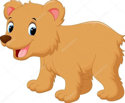Caricatura lindo bebé oso — Vector de stock © irwanjos2 ...