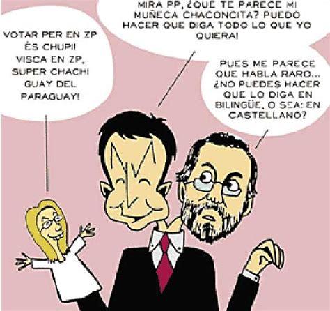 Caricaturas de Zapatero y Rajoy
