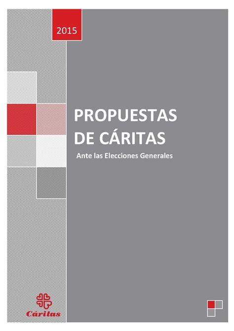 Cáritas Española recuerda sus propuestas ante las próximas ...