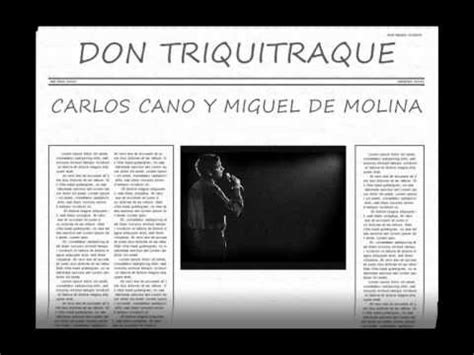 CARLOS CANO: DON TRIQUITRAQUE   YouTube