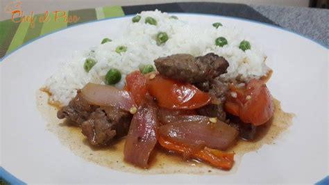 Carne al jugo con arroz blancoChef al Paso