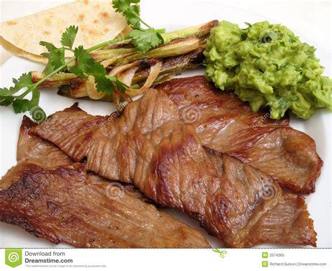 Carne De Vaca Frita Mexicana (Cecina) Foto de archivo ...