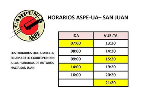 Carnets: Horarios UA Aspe