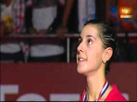 Carolina Marín, con el himno de España con la letra de ...