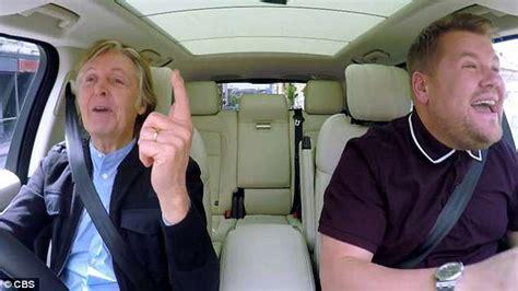 Carpool Karaoke: Paul McCartney belts out songs with James ...