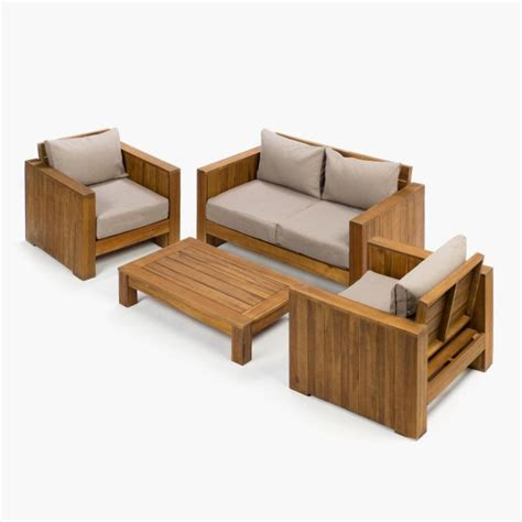 Carrefour jardín 2018: Conjuntos mesas y sillas madera ...