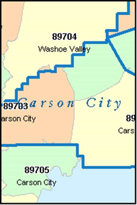 CARSON CITY County, Nevada Digital ZIP Code Map