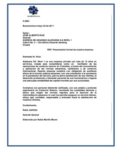 Carta De Presentacin Comercial. Interesting With Carta De ...