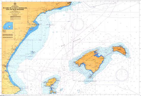 Carta náutica de las Islas Baleares 1978   Tamaño completo