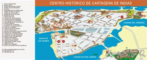 Cartagena Columbia Map With Cities - HolidayMapQ.com