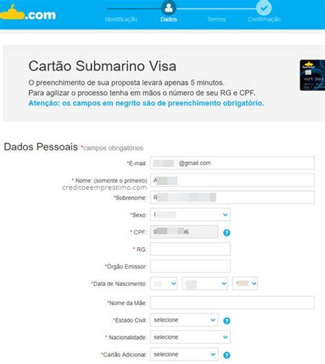 Cartão de Crédito do Submarino - Como Fazer, Cartão Visa Sub