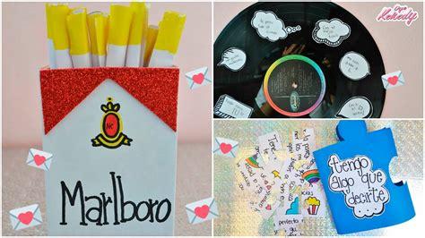 CARTAS PARA TU NOVIO /AMIGOS   3 IDEAS :::...♡ ♡ ♡   YouTube