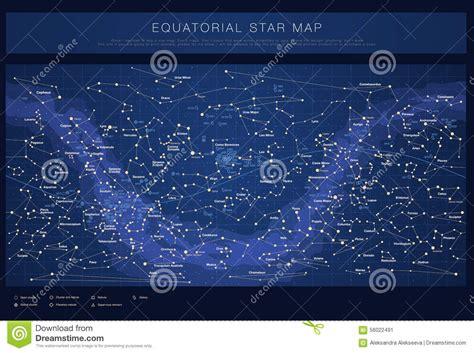 Carte D'étoile Détaillée Avec Des Noms Des étoiles ...