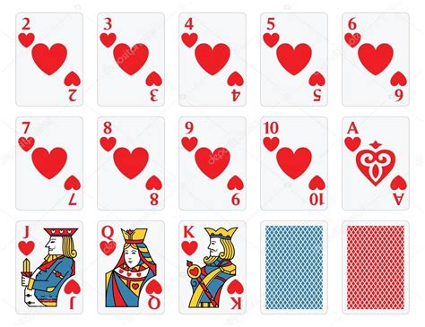 Carte da gioco - cuori impostati — Vettoriali Stock ...