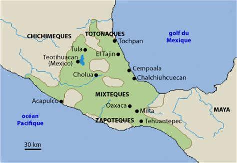 Carte de l'empire azteque