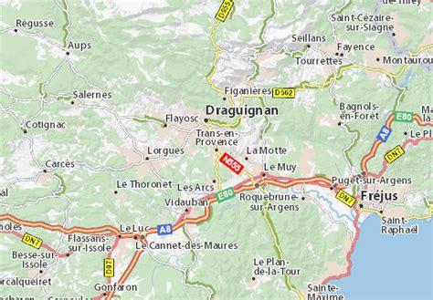 Carte détaillée Trans-en-Provence - plan Trans-en-Provence ...