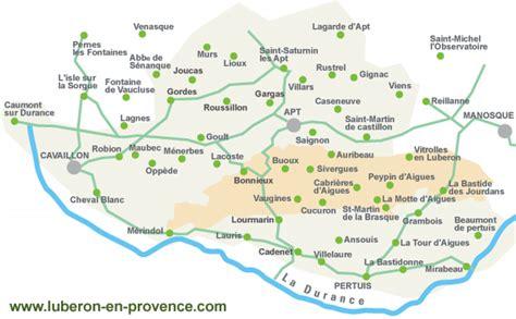 Carte du Luberon en Provence