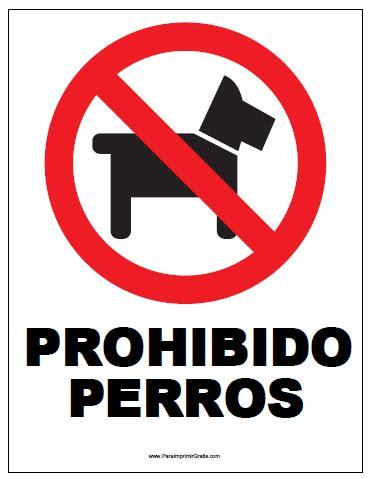 Cartel de Prohibido Perros   Para Imprimir Gratis ...