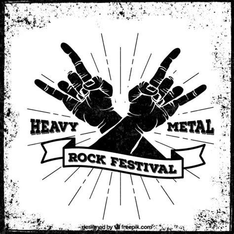 Cartel del festival de heavy metal   Descargar Vectores gratis