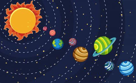 Cartel del sistema solar con planetas y sol | Descargar ...