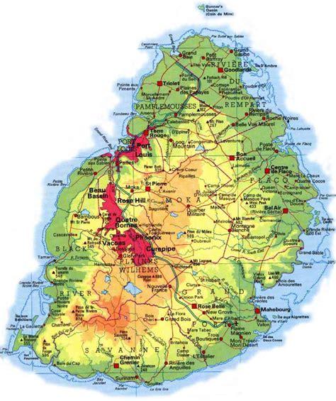 Cartes des Iles Maurice, Reunion et Rodrigues - Maps of ...
