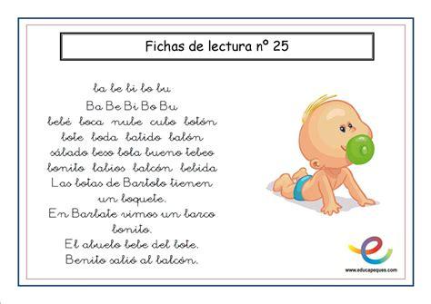Cartilla de lectura para infantil