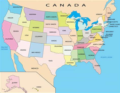 Cartina degli USA: mappa dei 50 Stati e schede