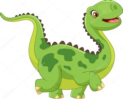 Cartoon happy dinosaur — Stock Vector © tigatelu #73711037