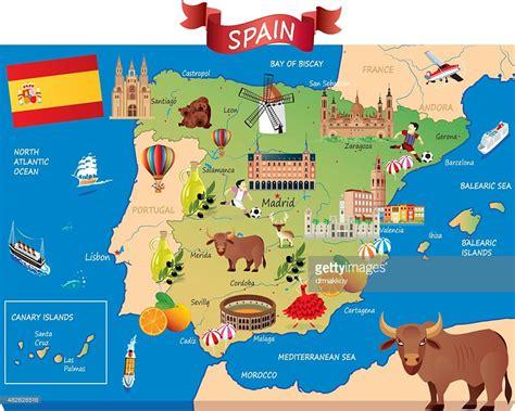 Cartoon Karte Von Spanien Vektorgrafik | Getty Images