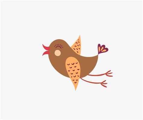 Cartoon Vector oscuro pájaro volando feliz, Vector Birdie ...