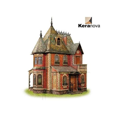Casa de muñecas Victoriana montada Keranova Clever Paper ...