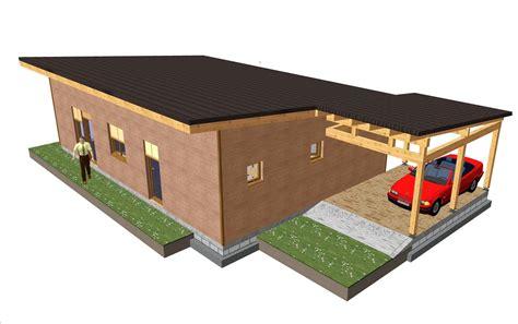 Casa prefabricada de madera y hormigón ref. 111,90 m² ...