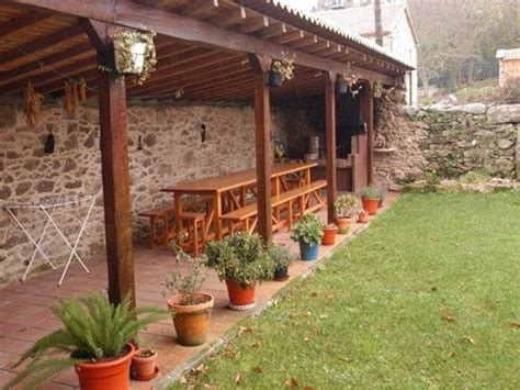 casa rural para 7 en A Estrada - Cenador con barbacoa ...