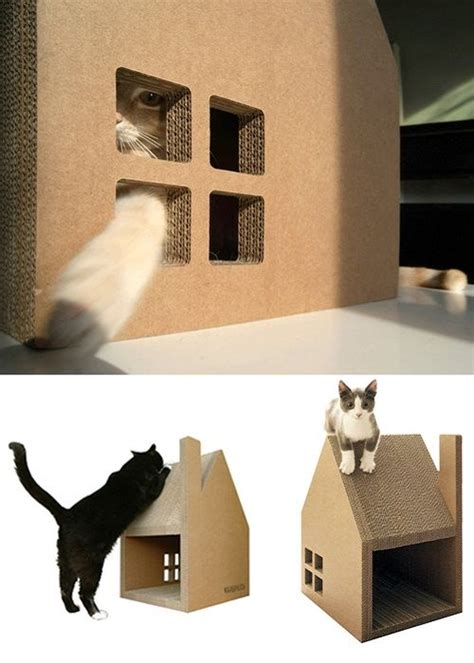Casas de cartón 3 en 1 para gatos – Decoracion de INTERIORES