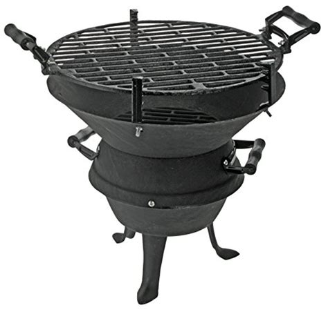 Cast Iron BBQ Grill Fire Pit Charcoal Barbecue Coal With ...