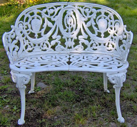 Cast iron garden bench in the Adamesque style c1880 : Item ...