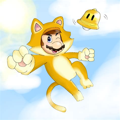 Cat Mario above the clouds... by BunnyZiegs on DeviantArt
