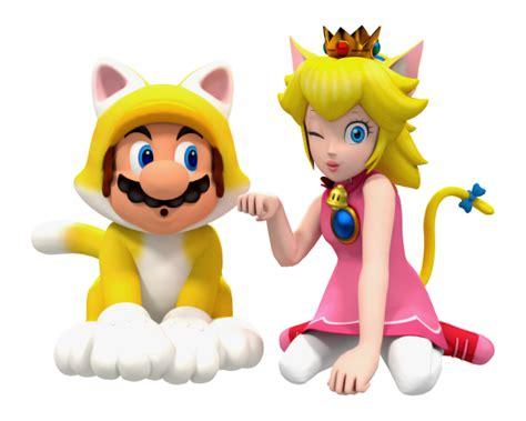 Cat Mario and Cat Peach by BradMan267 on DeviantArt