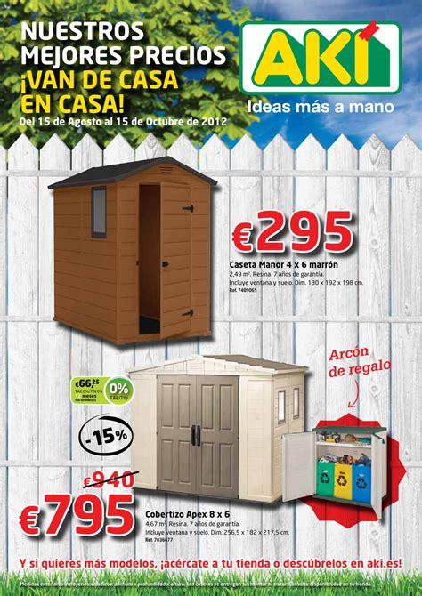 Catálogo Aki casetas y cobertizos 2012 by Milyuncatalogos ...
